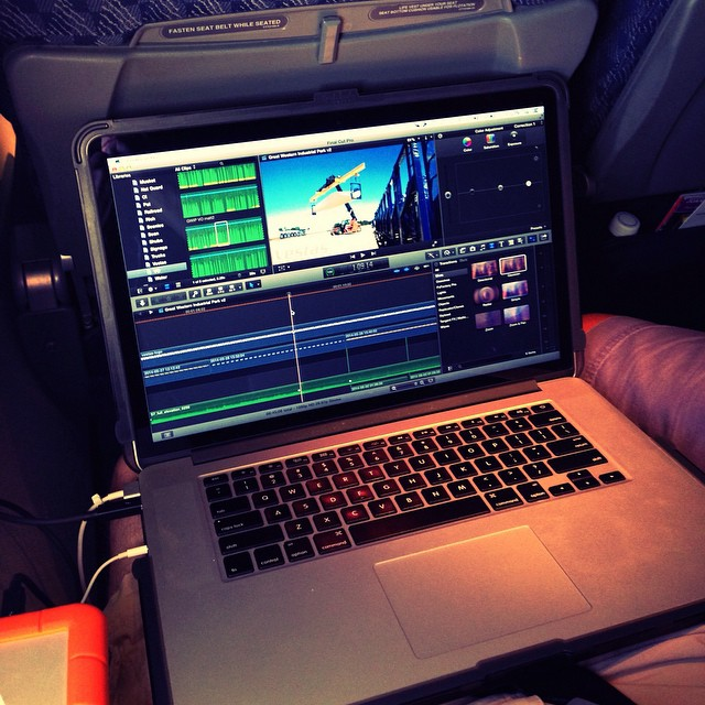 Long flights make for great editing time...our best work is done from the air... #mobileoffice #aerial #video #photography #tbt
