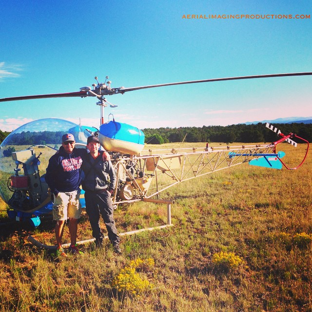 Check out this sweet Bell 47 #helicopter! The shoot was on a large #ranch in New Mexico and we needed to pull in the whirly bird to capture it all! #aerial